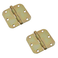 National Hardware S821-579 Stanley 3-1/2 Inch 5/8 Radius Door Hinges Brass Tone 2 Pack