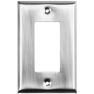 National Hardware S824-490 S824-573 Stanley Basic Single GFCI Wall Plate Satin Nickel 4 Pack