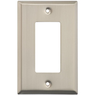 National Hardware S824-573 Stanley Basic Single GFCI Wall Plate Satin Nickel 4 Pack