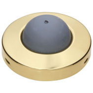 National Hardware S829-242 Stanley Commercial Convex Wall Door Stop 2-1/2 Inch Bright Solid Brass