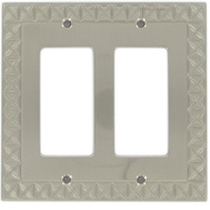 National Hardware S832-139 Stanley Pinnacle Double Rocker Or Gfi Wall Plate Satin Nickel