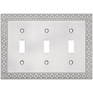 National Hardware S832-154 Stanley Pinnacle Triple Switch Wall Plate Satin Nickel