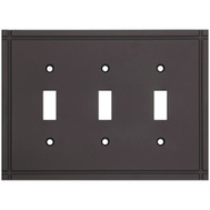 National Hardware S832-451 Stanley Ranch Triple Switch Wall Plate Oil Rubbed Bronze