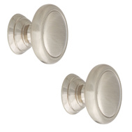 National Hardware S833-608 S803-072=PK1 Stanley Franklin Cabinet Knobs 1-1/4 Inch Satin Nickel 2 Pack