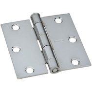 National Hardware S834-671 Stanley Door Hinges 3 Inch Square Corner Bright Chrome 2 Pack