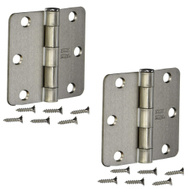 National Hardware S834-713 Stanley 3 Inch 1/4 Radius Door Hinges Satin Chrome 2 Pack