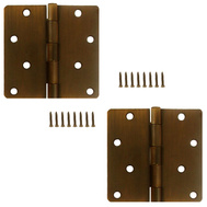 National Hardware S834-747 Stanley Door Hinges 4 Inch 1/4 Radius Bronze With Copper Highlights 2 Pack