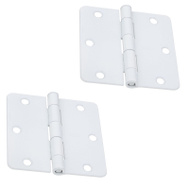National Hardware S836-338 Stanley Door Hinges 3-1/2 Inch 1/4 Radius White 2 Pack