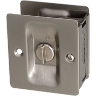 National Hardware S837-567 N326-272 Stanley Privacy Knotched Pocket Door Latch Solid Brass Satin Nickel