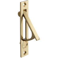 National Hardware S837-583 N216-051 Stanley Door Edge Pull 3-7/8 Inch For Pocket Doors Solid Brass Polished Brass