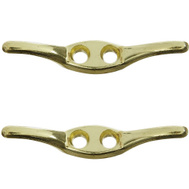 National Hardware G837-807 N223-313 Gatehouse Rope Cleat 2-1/2 Inch Bright Brass Plated Die Cast Zinc 2 Pack