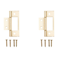 National Hardware 040467 N146-951 S402-134 Gatehouse Bi-Fold Folding Door Non Mortise Door Hinges 3 Inch Brass Plated Steel 2 Pack