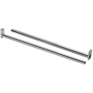 National Hardware S840-298 N189-654 Stanley Adjustable Closet Rod With Ends 72 Inch To 120 Inch Chrome Plated Steel