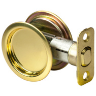National Hardware S849-083 Stanley Passage Round Pocket Door Pull Polished Brass