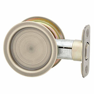 National Hardware S849-109 N350-348 Stanley Passage Round Pocket Door Pull Antique Brass