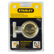 National Hardware S849-133 N350-371 Stanley Privacy Round Pocket Door Latch Polished Brass