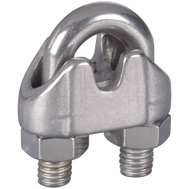 National Hardware S850-826 N348-896 Stanley 3/16 Inch Stainless Steel Wire Cable Clamps 2 Pack