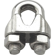 National Hardware S850-834 N348-904 Stanley Wire Cable Clamps 1/4 Inch Stainless Steel 2 Pack