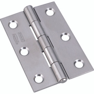 National Hardware S851-154 N348-995 Stanley Non-Removable Tight Pin Narrow Hinges 3 By 2 Inch Stainless Steel 2 Pack