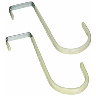 National Hardware S819-430 Stanley Over The Door Storage Hooks Zinc Plated Steel 2 Pack