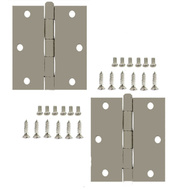 National Hardware S082-300 Stanley Commercial Door Hinges 3-1/2 Inch Square Corner USP Primed 2 Pack