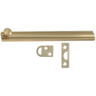 National Hardware S804-040 N198-010 Stanley Flush Surface Bolt 6 Inch Bright Solid Brass