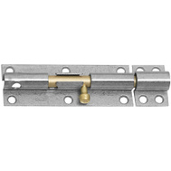 National Hardware S763-800 Stanley Heavy Padlockable Barrel Bolt 6 Inch Galvanized Steel With Brass Bolt
