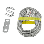 National Hardware N280-339 S730-700 Stanley Heavy Duty Lift Cable 14 Foot Zinc Plated Steel