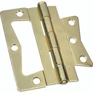National Hardware S460-817 N244-822 Stanley Bi-Fold Folding Door Non Mortise Door Hinges 4 Inch Brass Plated Steel 2 Pack