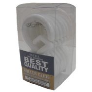 ExCell 1ME-060O0-0328-961 Frosted Roller Glide Shower Hooks 12 Pack
