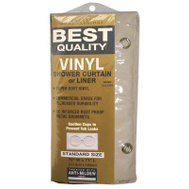 ExCell 1ME-049O0-0899-280 Ecru Heavy Duty Shower Curtain And Liner