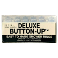ExCell 1ME-060O0-0064-960 Clear Button Up Shower Curtain Hook 12 Pack
