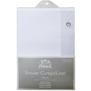 ExCell 1MB-040O0-6111-100 White Soft Sensations Shower Curtain & Liner