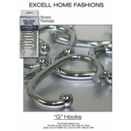 ExCell 1ME-061O0-0325-185 Brushed Nickel Shower Curtain Hooks 12 Pack