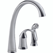 Delta Faucet 4380-DST Chrome Pillar Single Handle Kitchen Faucet
