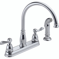 Delta Faucet 21996LF Windemere Kitchen Faucet 2 Handle Chrome With Side Sprayer