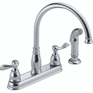 Delta Faucet 21996LF-SS Kitchen Faucet 2 Handle Spray Stainless Steel