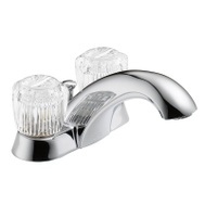 Delta Faucet 2522-LF Classic Two Handle Pop Up Lavatory Faucet Chrome