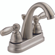 Delta Faucet P299696LF Lavatory Faucet 2 Ergonomic Blade Handles With Pop Up Drain Chrome