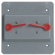 Thomas & Betts E9G2SSNR Carlon Grey Double Toggle Swith