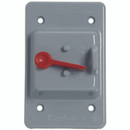 Thomas & Betts E98TSCN-CAR Carlon Grey Single Toggle Switch