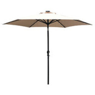 Seasonal Trends 59792 Umbrella Mkt Tilt/Crnk Led 9ft