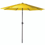 Seasonal Trends 60038 Umbrella Mrkt Crnk Stl Yel 9Ft