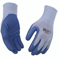Kinco 1791-L Blue Latex Palm Gripping Knit Gloves Large