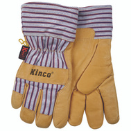 Kinco 1927-Y Premium Pigskin Leather Palm Thermal Lined Gloves Youth Ages 7-12