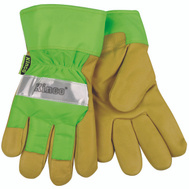 Kinco 1939-XL Hi-Viz Green Thermal Leather Palm Safety Gloves Extra-Large