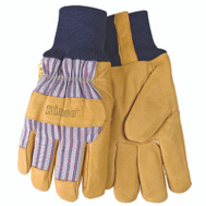Kinco 1927KW-M Premium Pigskin Leather Palm Thermal Lined Knit Wrist Gloves Medium
