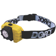 Dorcy 41-2099 Flashlight 3Led Hdbnd Adj 3Aaa