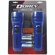 Dorcy 41-2594 Flashlight Combo Led 1D 2Pk 2 Pack