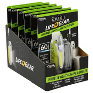 Dorcy 41-3945 60 Lumen 1AAA Light With Sturdy Whistle - Random Color